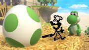 Yoshi y Mr. Game & Watch en Altárea SSBU.jpg