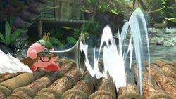 Kirby absorbiendo con el Trabuco.