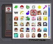 Algunos Mii como iconos de perfil en Super Smash Bros. Brawl.