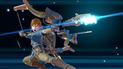 Link usando la Arco y flecha ancestrales en Super Smash Bros. Ultimate