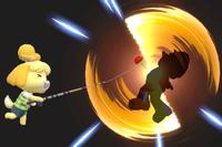Vista previa de Caña de pescar en la sección de Técnicas de Super Smash Bros. Ultimate