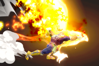 Vista previa de Puño Falcon/Gancho de fuego en la sección de Técnicas de Super Smash Bros. Ultimate