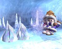 Nana y Popo lanzado dos icebergs en Super Smash Bros. Brawl