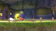 Aldeano tratando de agarrar al Destello SSB4 (Wii U).png