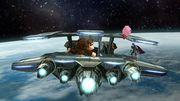 Kirby, Marth y Donkey Kong en Sistema Lylat SSB4 (Wii U).jpg
