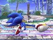 Ataque fuerte inferior Sonic SSBB.jpg