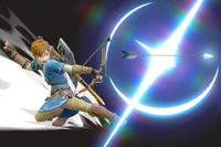 Vista previa del Arco y flechas en la sección de Técnicas de Super Smash Bros. Ultimate.