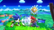 Mario y Sonic en el escenario Windy Hill Zone - (SSB.for Wii U).jpg
