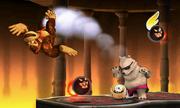 Donkey Kong junto a algunos enemigos en Smashventura.png