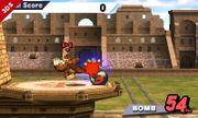 Donkey Kong golpeando la Bomba en Bomba Smash SSB4 (3DS).jpg