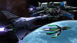 Fox y Samus Zero en la Estacion Espacial SSB4 (Wii U) (1).jpg