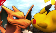 Charizard junto a Pikachu SSB4 (3DS).png