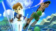 Mii Espadachin golpeando a Little Mac en Reino Champiñón U SSB4 (Wii U).jpg