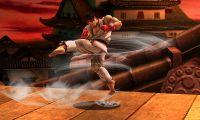 Ryu usando Tatsumaki Senpukyaku en Super Smash Bros. para Nintendo 3DS.