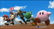 Link Pit Mario Kirby y Yoshi seleccion Zona silvestre II ESE SSBB.png