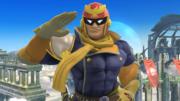 Captain Falcon haciendo una burla en el Campo de batalla SSB4 (Wii U).png