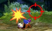 Dúo Duck Hunt usando su ataque Smash superior en SSB4 (3DS).jpg