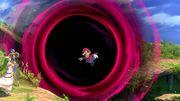 Mario siendo absorbido por un Agujero negro SSBU.jpg