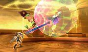 Pit atacando a un Maiva en Kid Icarus Uprising.jpg