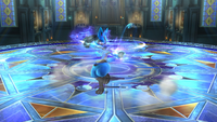 Lucario usando Doble equipo en Super Smash Bros. for Wii U