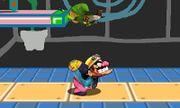 Lanzamiento hacia arriba de Wario (1) SSB4 (3DS).JPG