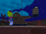 Link siendo catapulteado en TLoZ The Wind Waker.png