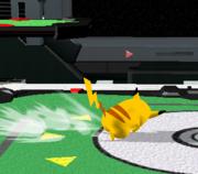 Ataque de recuperación de cara al suelo de Pikachu (1) SSBM.png