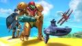 Samus y Marth junto a un Steel Diver SSB4 (Wii U).jpg