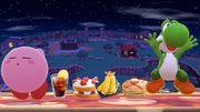 Comida Junto a kirby y Yoshi SSB4 (Wii U).jpg
