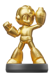 Amiibo de Mega Man dorado (serie Legacy Collection).png