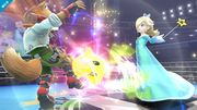 Estela lanzando a Destello contra Fox SSB4 (Wii U).jpg