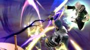 Daraen mujer haciendo su Smash Final contra Captain Falcon SSB4 (Wii U).png
