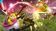 Wendy atacando a Iggy en las Llanuras de Gaur SSB4 (Wii U).jpg