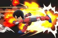 Vista previa de Patada explosiva en la sección de Técnicas de Super Smash Bros. Ultimate