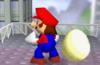 Mario junto a un huevo SSB.png