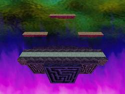 Vista de Duel Zone en Super Smash Bros.