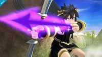 Pit Sombrío cargando una flecha en Super Smash Bros. para Wii U