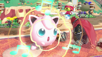 Jigglypuff usando Canto en Super Smash Bros. Ultimate.