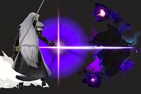 Vista previa de Bengala de sombra/Fulgor espectral en la sección de Técnicas de Super Smash Bros. Ultimate