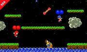 Varios Aldeanos en Balloon Fight (version 2) SSB4 (3DS).jpg