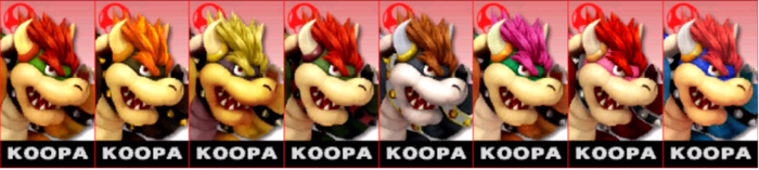 Paleta de colores de Bowser (JAP) SSB4 (3DS).png