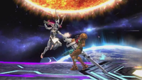 Corrin utilizando el ataque en Super Smash Bros. for Wii U.