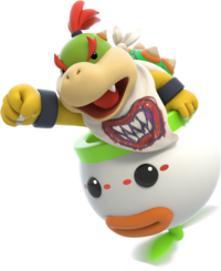 Art oficial de Bowser Jr./Bowsy en Mario + Rabbids: Kingdom Battle