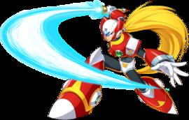 Art oficial de Zero en Mega Man X DiVE