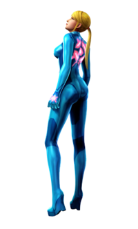 Art oficial de Samus Zero en Metroid: Other M