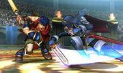 Ike y Lucina atacandose en el Coliseo de Regna Ferox (SSB4).jpg