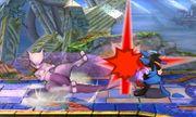 Ataque de recuperación derribo Mewtwo (2) SSB4 (3DS).JPG