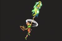 Vista previa de Gancho elástico en la sección de Técnicas de Super Smash Bros. Ultimate