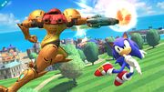 Sonic y Samus en la Isla de Pilotwings SSB4 (Wii U).jpg