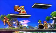 Luigi atacando con un Brazal perforador SSB4 (3DS).png
